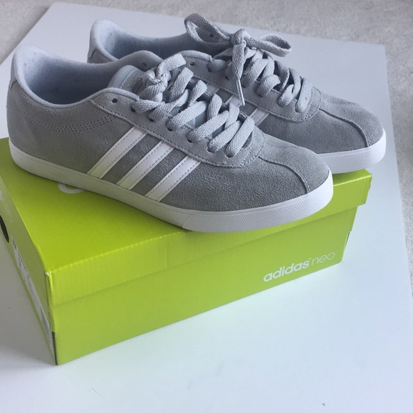 outlet store e91f7 8136d ... coupon code grey suede adidas neo cortset shoes 14f8c 3f8ff